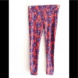 LULAROE Floral print leggings woman's - one size